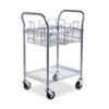 Wire Mail Cart, 600lbs, 18-3/4w x 26-3/4d x 38-1/2h, Metallic Gray