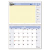 "QuickNotes Recycled Desk/Wall Calendar, 11""x 8"", 2013"