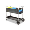 Scoot Mail Cart, 1-Shelf, 22-1/2w x 39-1/2d x 40-3/4h, Black/Silver