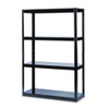 Boltless Steel Shelving, 5 Shelves, 48w x 18d x 72h, Black