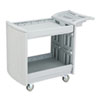 Utility Cart, 2-Shelf, 45w x 23d x 37-1/4h, Light Gray