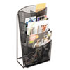 Safco Onyx Mesh Counter Displaym 4 Compartments, 9-3/4w x 6-1/2d x 18h, Black