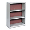 Value Mate Series Bookcase, 3 Shelves, 31-3/4w x 13-1/2d x 41h, Gray