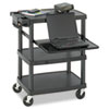 Multimedia Projector Cart, 4-Shelf, 27-3/4w x 18-3/4 x 34-3/4, Black