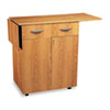 Hospitality Service Cart, 1-Shelf, 32-1/2w x 20-1/2d x 38-3/4h, Medium Oak