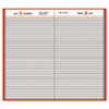 AT-A-GLANCE Standard Diary Recycled Daily Diary, Red, 7 11/16
