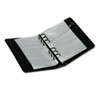Regal Leather Business Card Binder Holds 120 2 x 3 1/2 Cards, Black