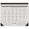 "Recycled 16-Month Academic Desk Pad Calendar, 22"" x 17"", 2012-2013"