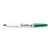 Vis-a-Vis Wet-Erase Marker, Fine Point, Green, Dozen