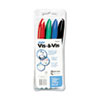 Vis-a-Vis Wet-Erase Marker, Fine Point, Asstd., 4/Set