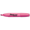 Accent Jumbo Highlighter, Chisel Tip, Fluorescent Pink, 12/Pk