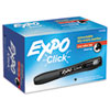 EXPO Click Dry Erase Markers, Chisel Tip, Black, Dozen