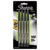 Sharpie Plastic Point Stick Permanent Water Resistant Pen, Black Ink, Fine, 4 per Pack