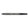 Plastic Point Stick Permanent Water Resistant Pen, Black Ink, Fine, Dozen