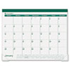 AT-A-GLANCE Recycled Fashion Desk Pad, Green, 22
