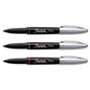 Sharpie Grip Porous Point Stick Permanent Water Resistant Pen, Assorted Ink, Fine, 3/Pk