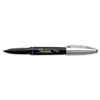 Sharpie Grip Porous Point Stick Permanent Water Resistant Pen, Blue Ink, Fine