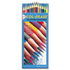 Col-Erase Colored Woodcase Pencils w/ Eraser, 12 Assorted Colors/Set