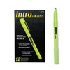 Paper Mate Intro Highlighters, Chisel Tip, Fluorescent Green, 12/Pk