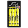 Accent Tank Style Highlighter, Chisel Tip, Fluorescent Yellow, 4/Set