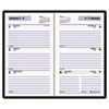 DayMinder Recycled Weekly Planner, Black, 3 1/2