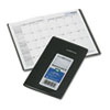 DayMinder Recycled Monthly Planner, Black, 3 5/8