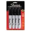 Sharpie Permanent Markers, 5.3mm Chisel Tip, Black, 4/Pack
