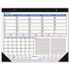 AT-A-GLANCE Recycled Weekly/Monthly Desk Pad, Blue and Black, 22