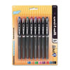 Vision Elite Stick Roller Ball Pen, Assorted Ink, Super Fine, 8 per Pack