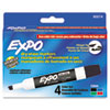 EXPO Low Odor Dry Erase Markers, Chisel Tip, Basic Assorted, 4/Set