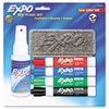 Low Odor Dry Erase Marker Starter Set, Assorted, 4/Set