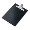 "Plastic Antimicrobial Clipboard, 1"" Capacity, Holds 8-1/2w x 12h, Black"