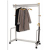 One-Shelf Coat Rack w/Umbrella Holder, Chrome, Metallic Gray