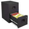 FIRE-SAFE 2-Drawer Insulated Vertical File, 17-1/2w x 23-1/4d x 28h, Black