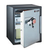 Electronic Safe w/2 Shelves, 2 ft3, 18-13/32w x 19-5/16d x 23-3/4h, Black/Gray
