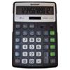 Sharp EL-R297BBK Recycled Series Calculator w/Kickstand, 12-Digit LCD