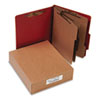 ACCO Pressboard 20-Pt. Classification Folder, Letter, 8-Section, Earth Red, 10/Box