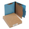 ACCO 15642 Presstex Colorlife Classification Folders, Letter, 4-Section, Light Blue, 10/Box ACC15642 ACC 15642