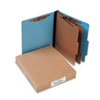 ACCO 15662 Presstex Colorlife Classification Folders, Letter, 6-Section, Light Blue, 10/Box ACC15662 ACC 15662