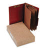 ACCO Pressboard 25-Pt. Classification Folder, Legal, Eight-Section, Earth Red, 10/Box