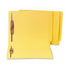 Water/Paper Cut-Resistant End Tab Folders, Two Fasteners, Letter, Yellow, 50/Box