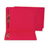 Water/Paper Cut-Resistant End Tab Folders, Two Fasteners, Letter, Red, 50/Box