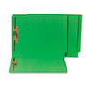 Water/Paper Cut-Resistant End Tab Folders, Two Fasteners, Letter, Green, 50/Box