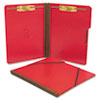 Pressboard Folios with Two Fasteners/Closure, Letter, Executive Red, 15/Box