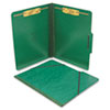 Pressboard Folios with Two Fasteners/Closure, Letter, Forest Green, 15/Box