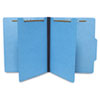 Economy Classification Folders, Letter, Six-Section, Blue, 25/Box