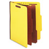 Expanding Classification Folder, Letter, Six-Section, Bright Yellow, 15/Box