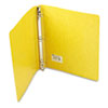 Recycled PRESSTEX Round Ring Binder, 1&quot; Capacity, Yellow