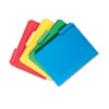 Waterproof Poly File Folders, 1/3 Cut Top Tab, Letter, Assorted, 24/Box