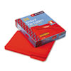 Waterproof Poly File Folders, 1/3 Cut Top Tab, Letter, Red, 24/Box